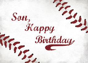 52407C Son Birthday Large Grunge Baseball