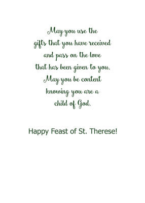 52359 Feast of St. Theresa the Little Flower