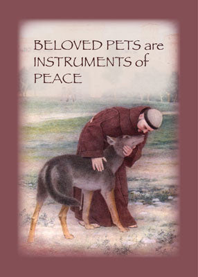 3899B Sympathy Loss of Pet, St. Francis, Religious