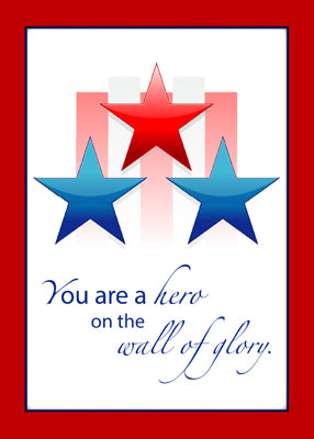 3444C Thank You Military Service Patriotic Wall of Glory