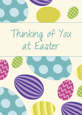 52521UU Thinking of You at Easter Colorful Eggs