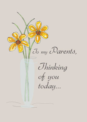 2608F Parents, Thinking of You Two Flowers Vase