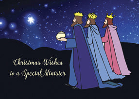 52483B Minister Christmas Wishes Three Kings at Night