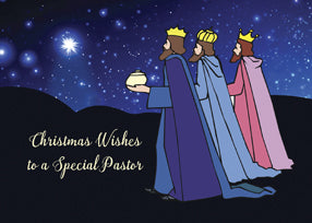 52483C Pastor Christmas Wishes Three Kings at Night