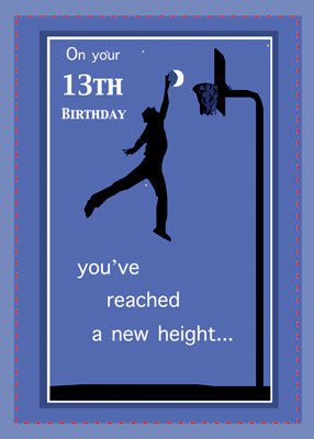 51957 13th Birthday Boy Basketball Reach High