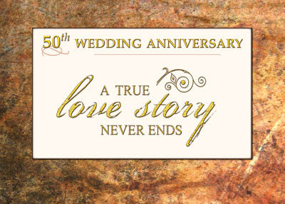 51982 50th Golden Wedding Anniversary Love Story