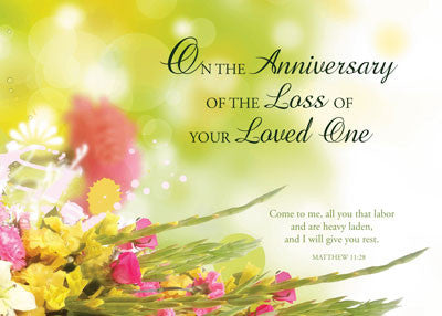52224a Anniversary Of Loved One S Death Religious Flowers