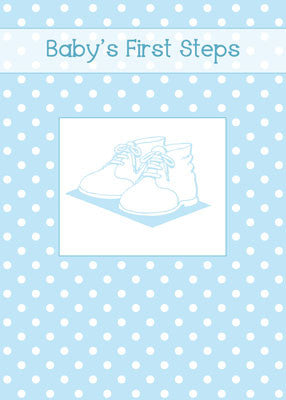 52043 Baby Boy's First Steps, Blue Shoes, Polka Dots