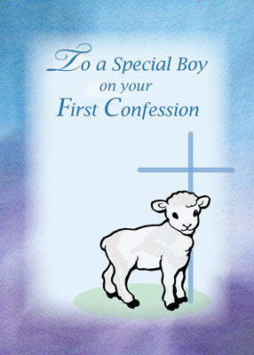 52029 Boy First Confession, Lamb, Cross