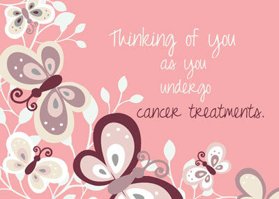 51977 Cancer Support Thinking of You, Butterflies, Pink