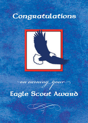 51937N Eagle Scout Congratulations, Eagle on Blue