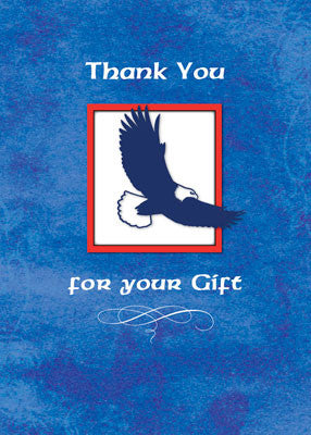 51937P Thank You Gift Eagle Scout, Eagle on Blue