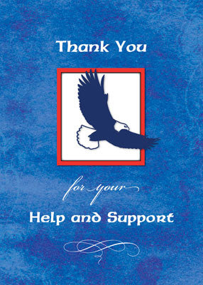 51937o Eagle Scout Thank You Project Help Eagle on Blue