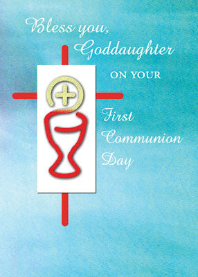 52036 Goddaughter First Communion Turquoise