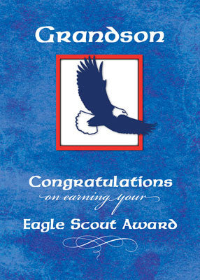51937B Grandson Eagle Scout Congratulations, Eagle on Blue