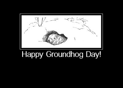 51967 Groundhog Day Black and White