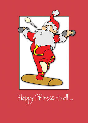 52008 Happy Fitness Exercise Christmas with Santa