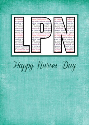 51911J LPN Nurses Day in Words