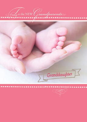 51825 New Grandparents, Baby Girl,  Congratulations