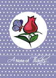 51972 Note of Thanks Purple