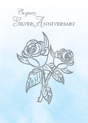 52085 Silver 25th Anniversary With Roses, Religious