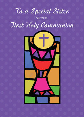 52032 Sister First Communion Bright Colors