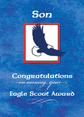 51937H Son Eagle Scout Congratulations, Eagle on Blue
