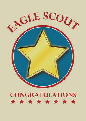 51811 Congratulations Eagle Scout Gold Star