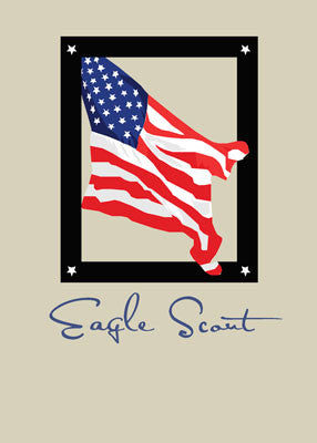 51808 Eagle Scout Flag, Red, White, Blue,  Congratulations