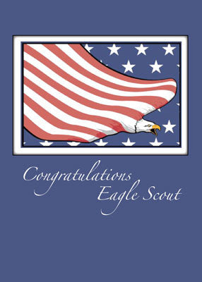 51812 Flag Eagle, Congratulations Eagle Scout