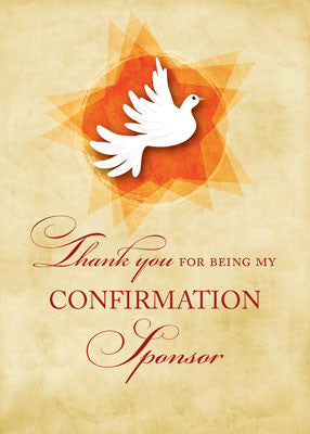 51893R Thank You for being My Confirmation Sponsor, Holy Spirit Dove