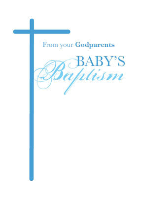 51980b From Godparents to Godson on Baptism, Boy Blue Cross