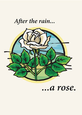 52048 After Rain a Rose, Encouragement, Religious
