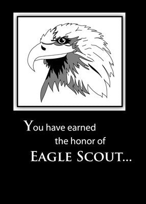 3890 Eagle Scout Black and White Head Sketch