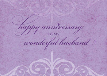 51953A Husband Wedding Anniversary Celebration Lavender