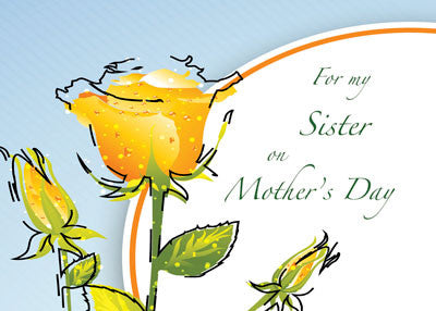 52063 Sister Mother's Day Yellow Watercolor Flowers