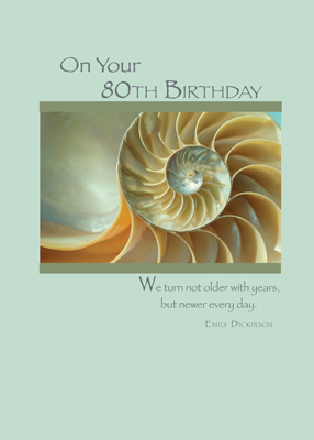 4375 80th Birthday Shell, Religious