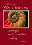3826 90th Birthday Shell Red