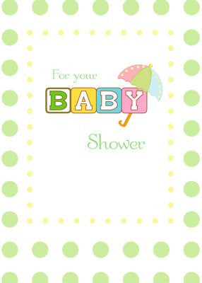 4309 Green Baby Shower Congratulations