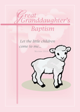 3873 Great Granddaughter Baptism Pink Lamb