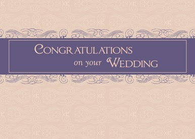 4363 Wedding Congratulations Plum and Peach