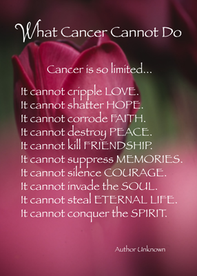 4021 What Cancer Cannot Do