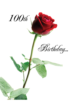 2724 100th Birthday Red Rose