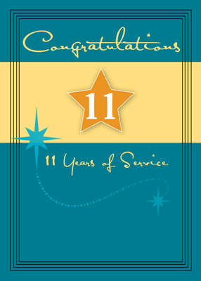3991 Employee 11 Years of Service, Star
