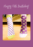 3922 13th Birthday Crazy Socks