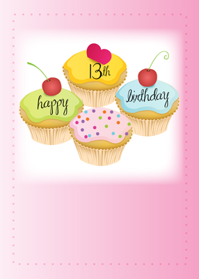 3951 13th Birthday, Cupcakes