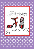 2714 16th Birthday Red Shoes