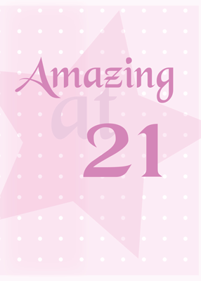 2713 Amazing at 21 Pink Birthday