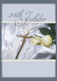 2684 Silver Jubilee Religious Life for Nun, Cross, Rose