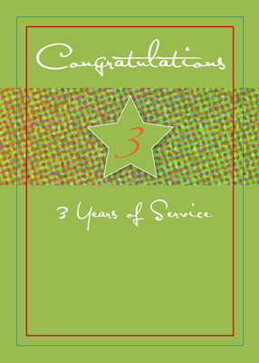 3988 3 Years of Service Star